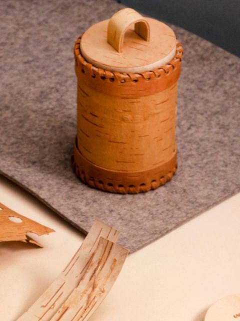 桦树皮食品容器