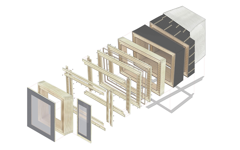 Mono-Material Wood Wall