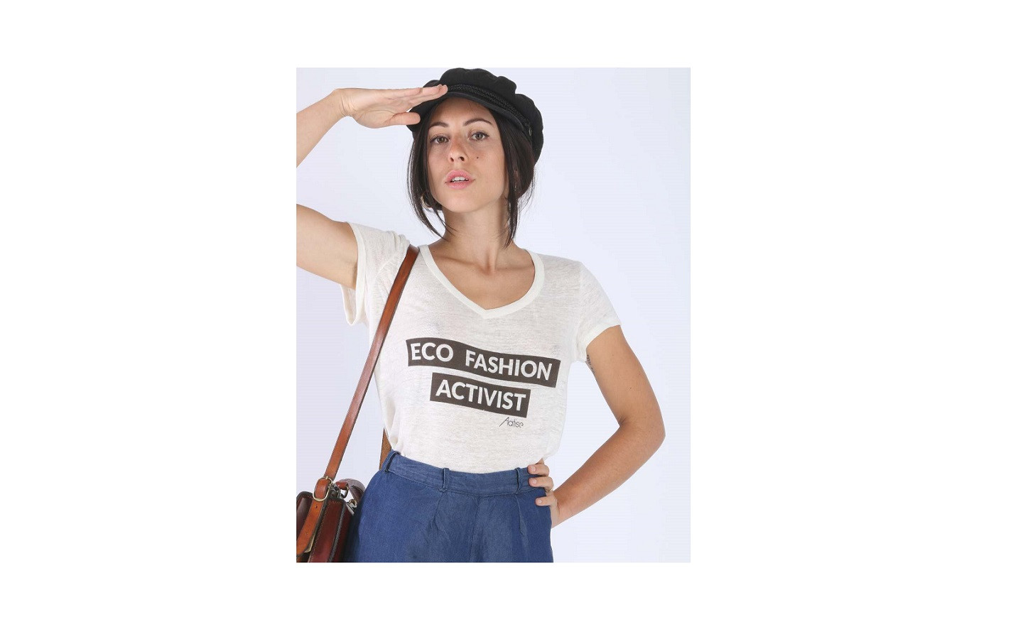 Eco Fashion Activist linen top