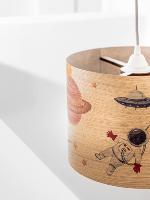 Childrens wood lampshades