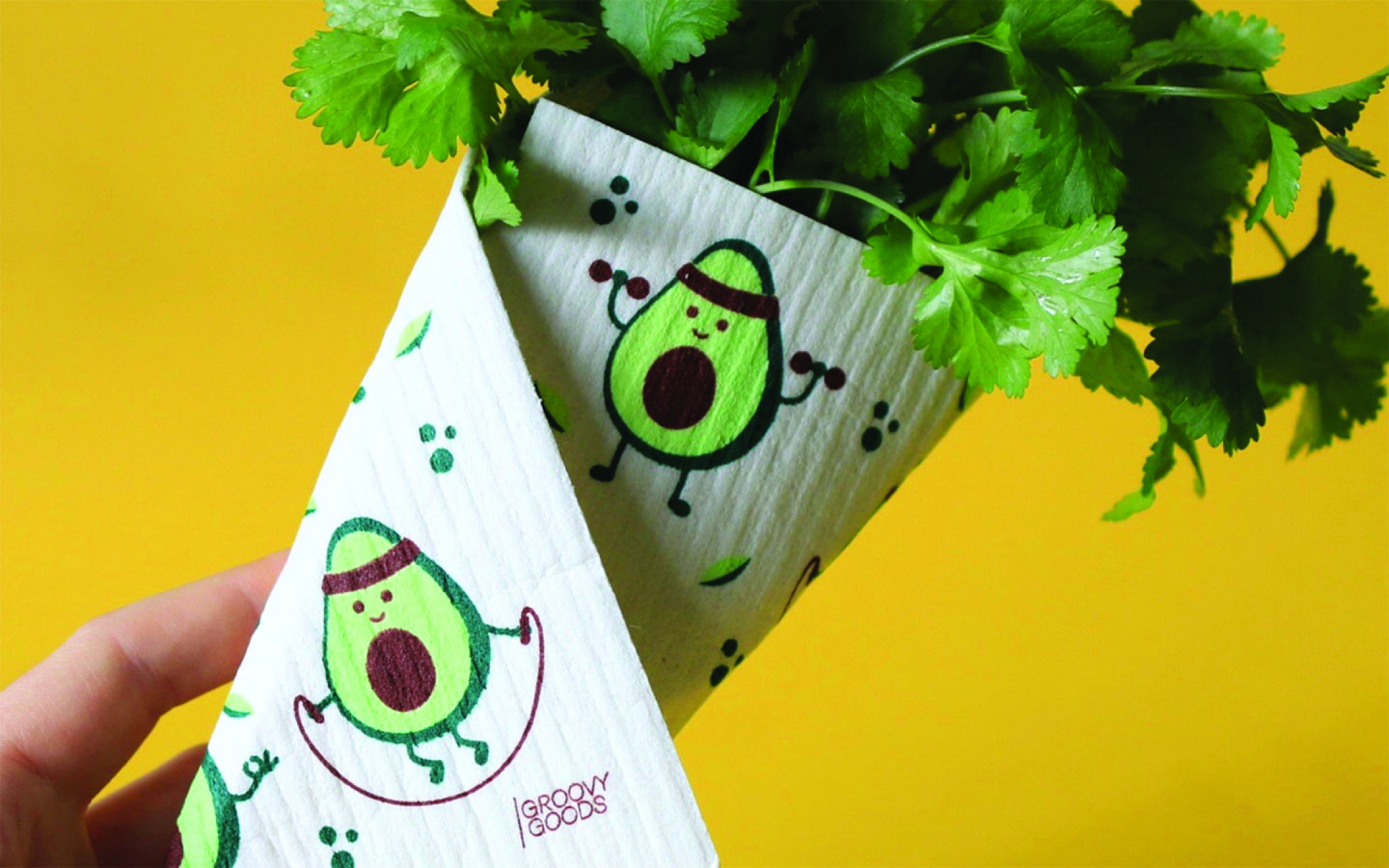 Ecological sponge cloth