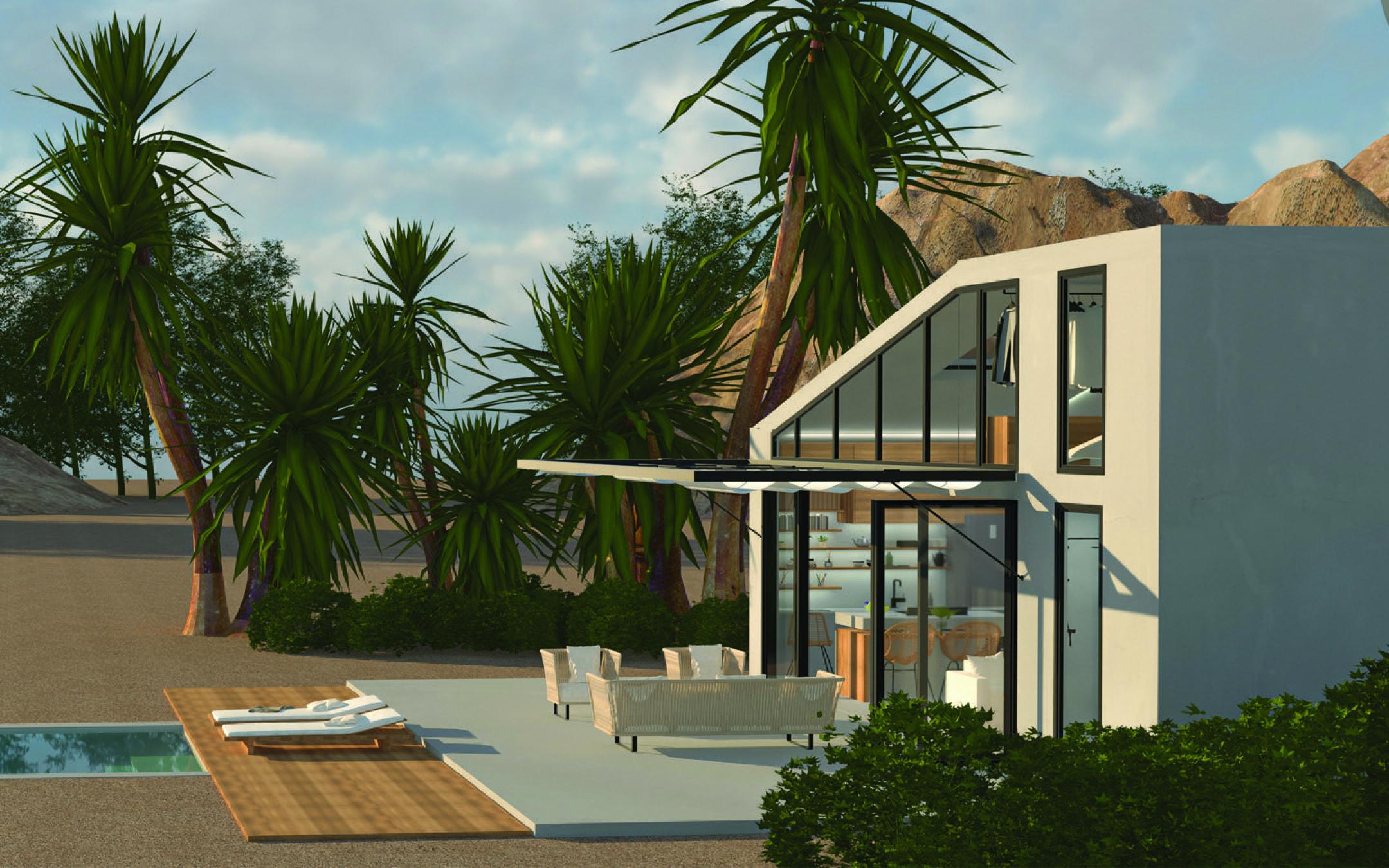 伊比沙岛的小房子