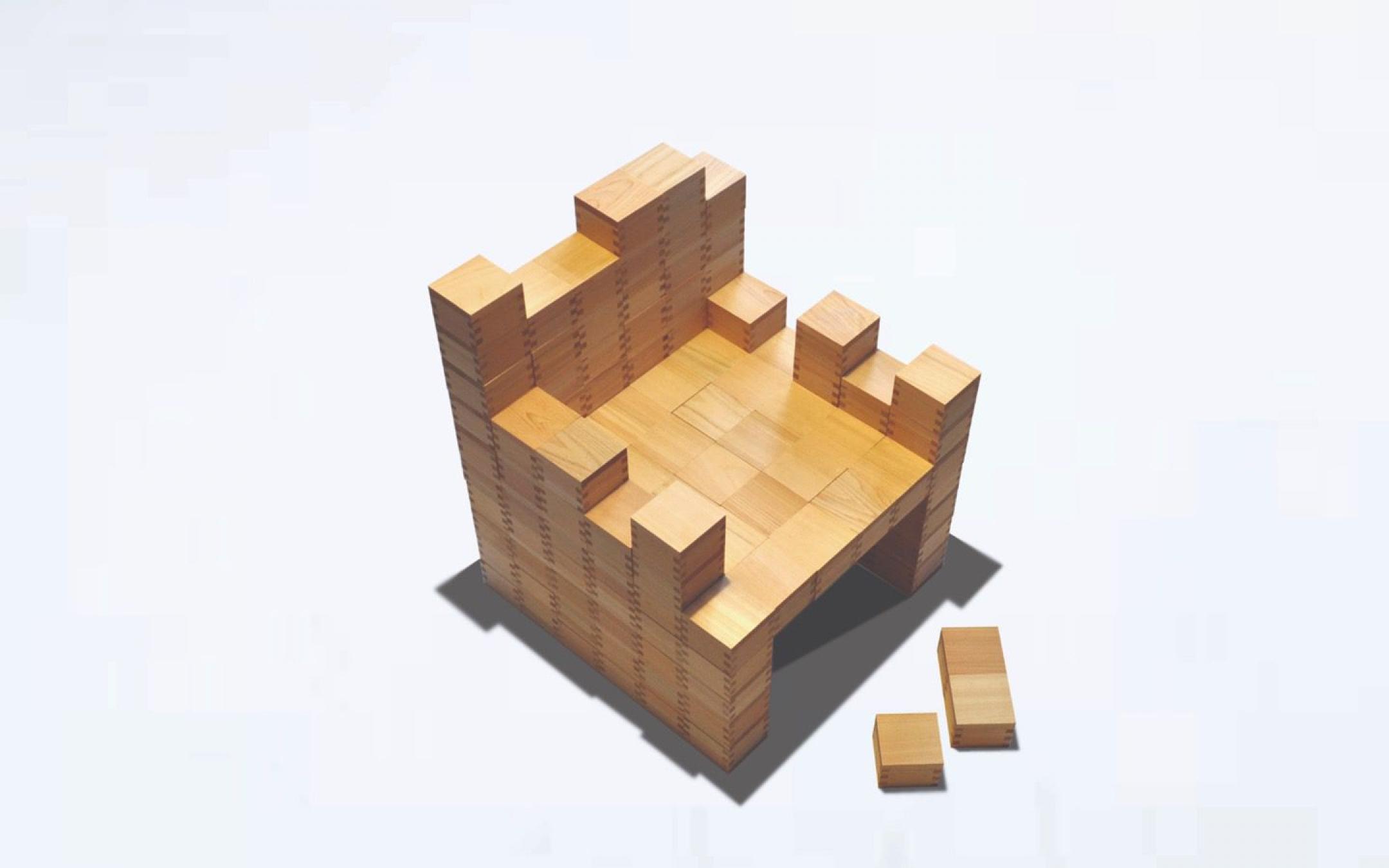 Masu Isu -Chair made of MASU-