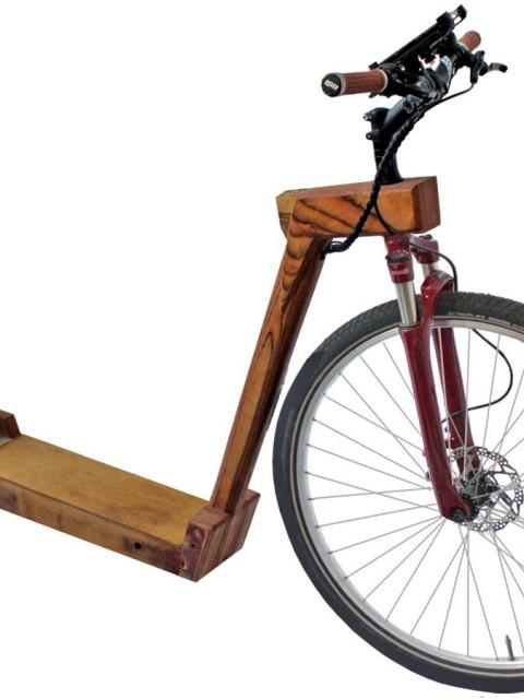 木制电动自行车