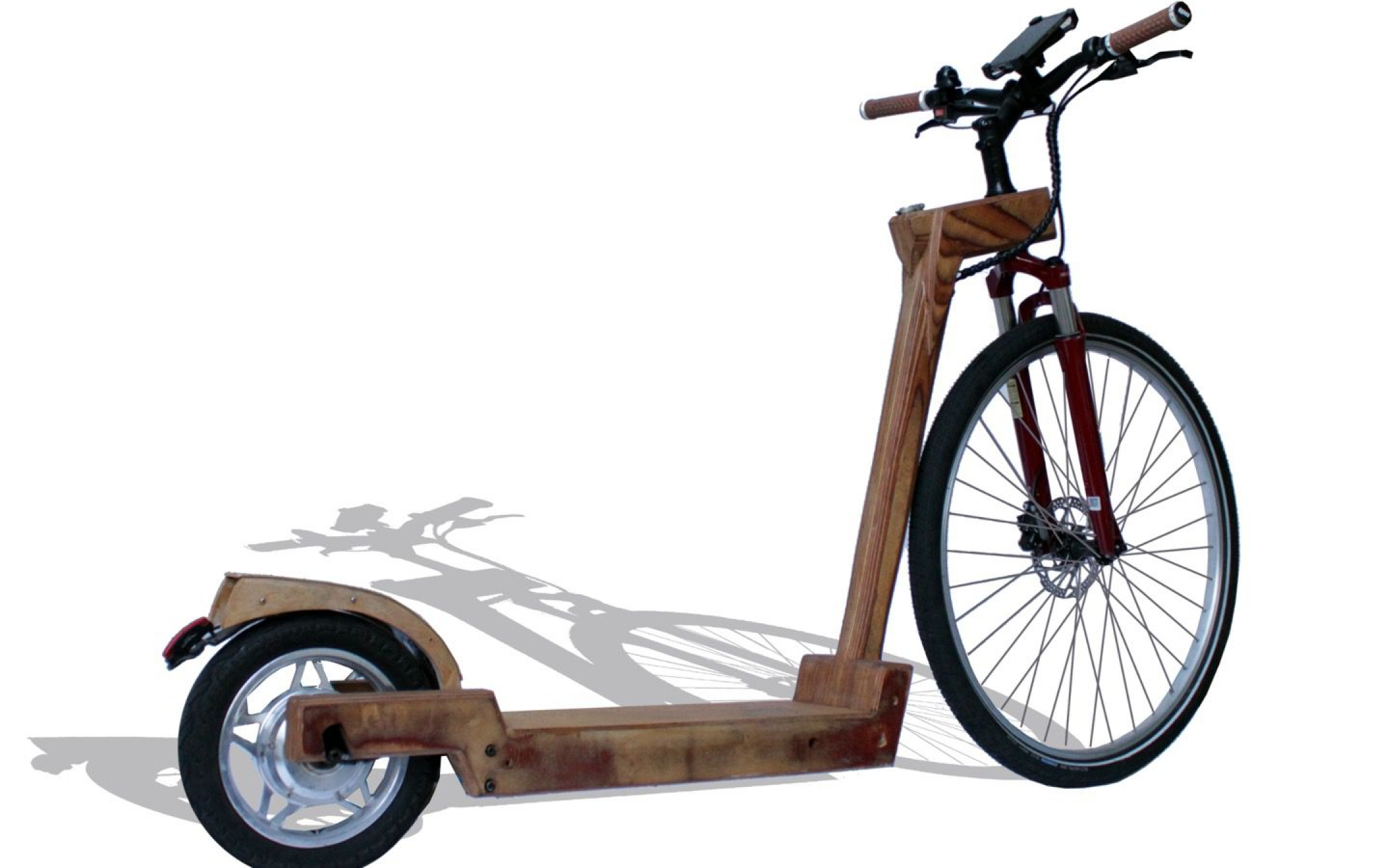 Holz-Elektro Tretroller