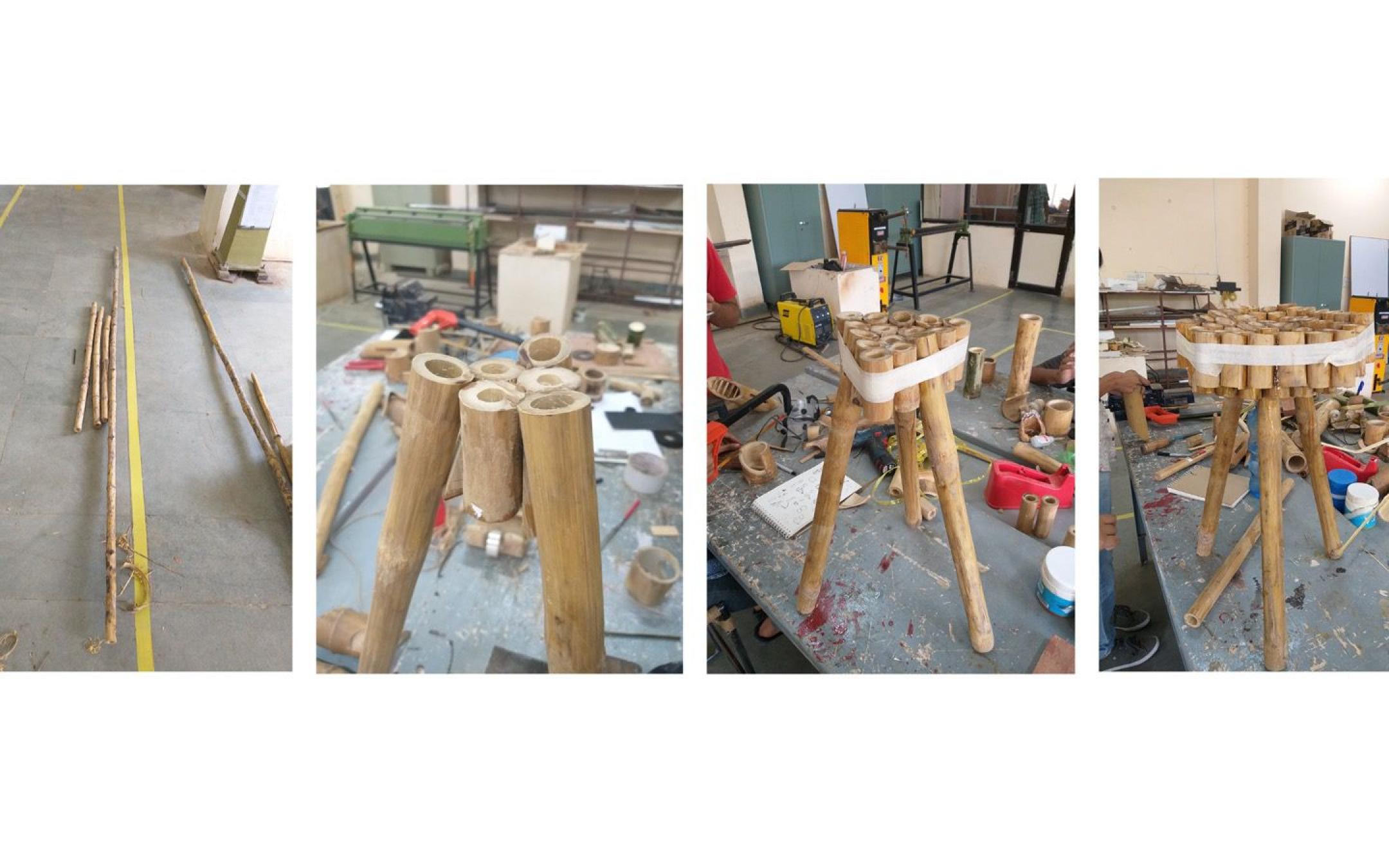 Keana, bamboo stool