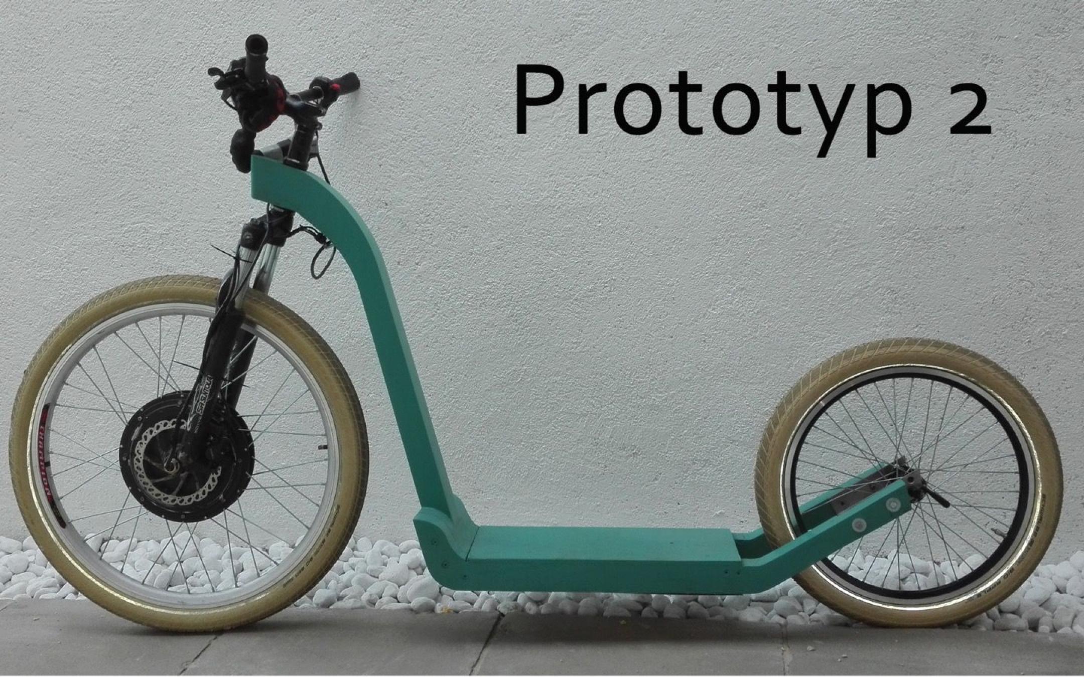 Electro-bicicleta de madera