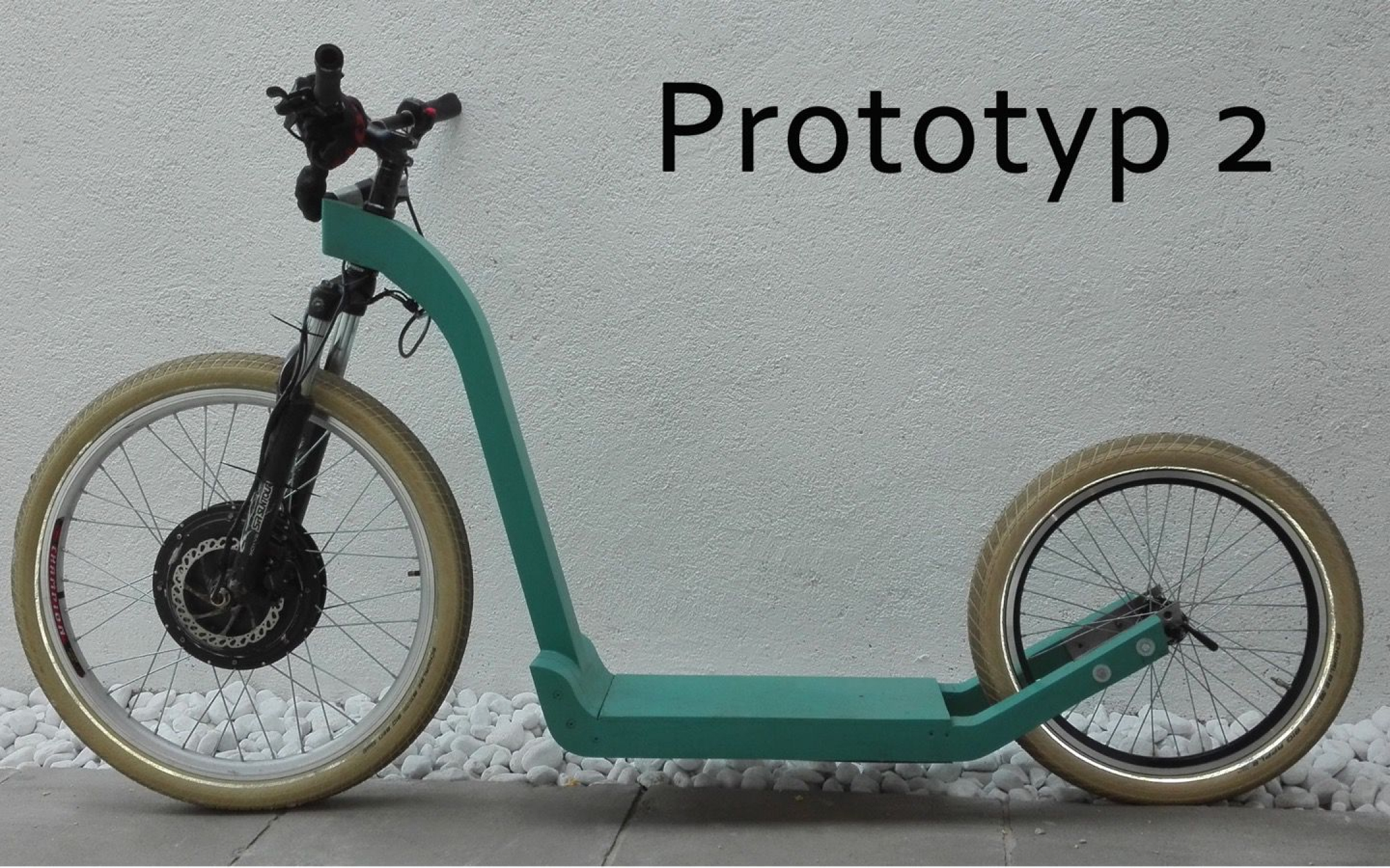 Wooden Electro-Kickbike