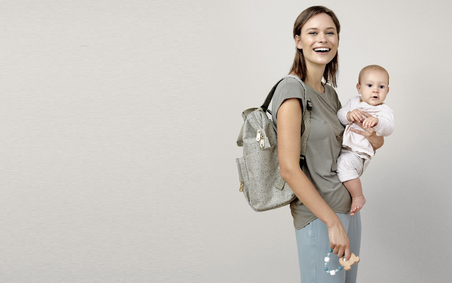 Diaper backpack -Goldie Bouclé