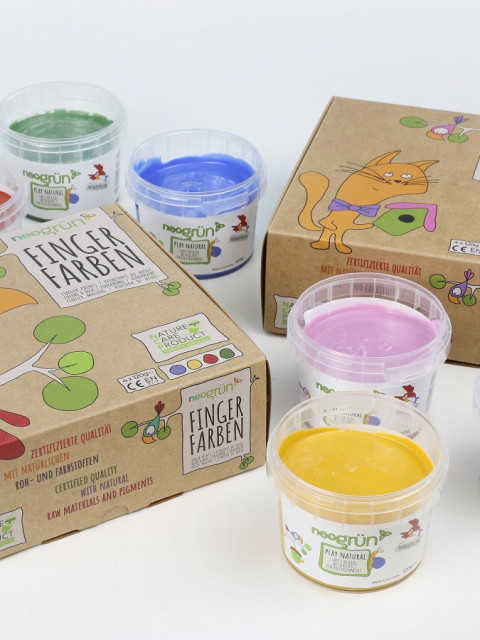 neogrün Finger paints