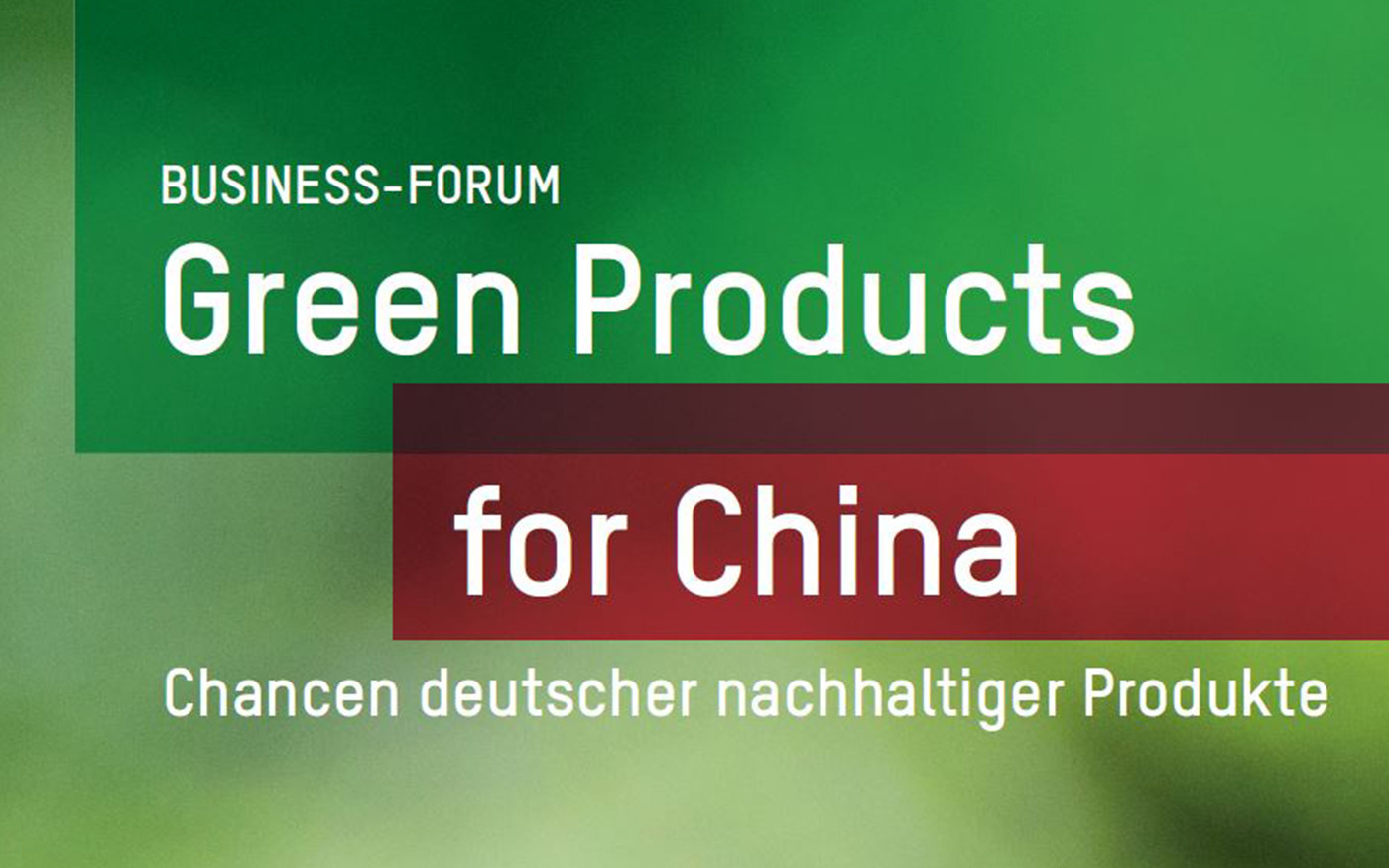 Green Products for China