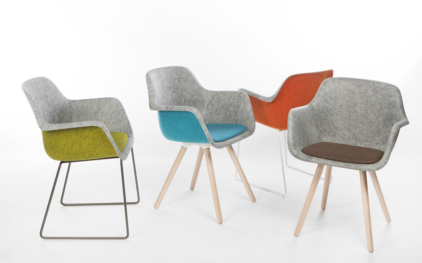 Felt, a chair made from PET bottles
