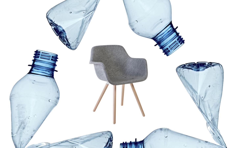 Felt, a chair made from PET bottles